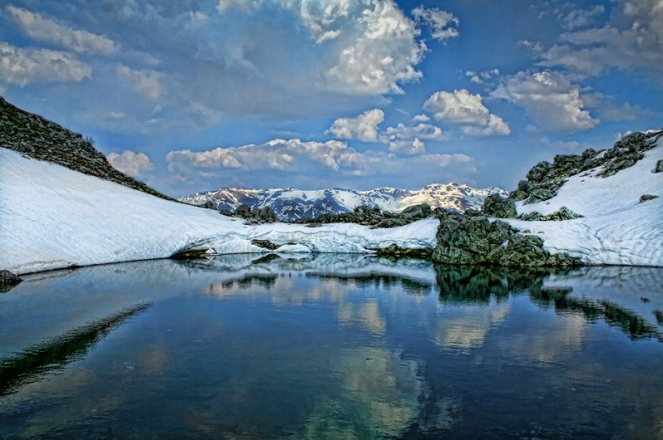 Visocica snow lake