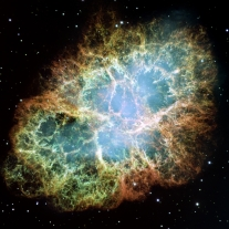 This new Hubble image - among the largest ever produced with the Earth-orbiting observatory - gives the most detailed view of the entire Crab Nebula ever. The Crab is among the most interesting and well studied objects in astronomy. This image is the largest image ever taken with Hubble's WFPC2 camera. It was assembled from 24 individual exposures taken with the NASA/ESA Hubble Space Telescope and is the highest resolution image of the entire Crab Nebula ever made.