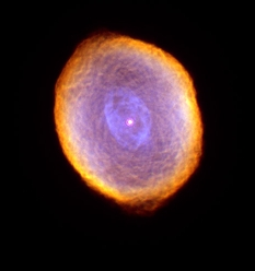 Glowing like a multi-faceted jewel, the planetary nebula IC 418 lies about 2000 light-years from Earth in the constellation Lepus. In this picture, the Hubble telescope reveals some remarkable textures weaving through the nebula. Their origin, however, is still uncertain.