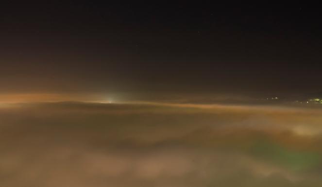 Sarajevo covered in fog