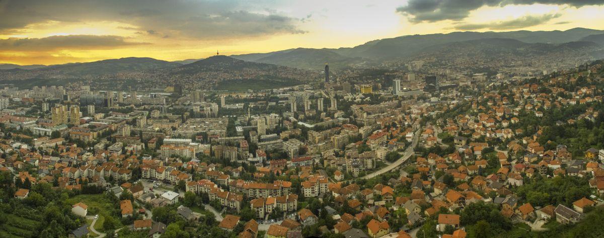 Sarajevo panorama (central-east)